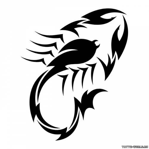 Скорпион кельтского узора