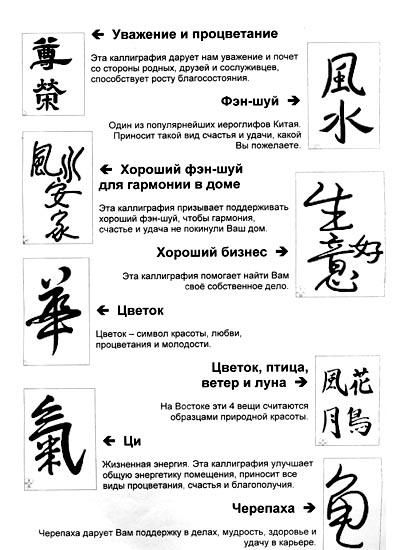 Тату иероглифы для девушек с переводом на русский